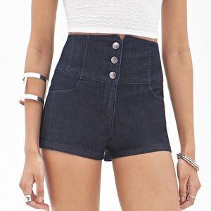 Forever 21 High-Waisted Denim Shorts